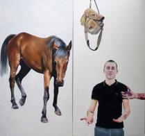 Chris Stevens: The Age of Reason or Salem's Lot, 2011. Oil on canvas. 170 x 180 cm