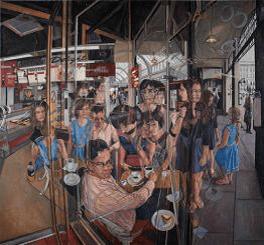 CLIVE HEAD Les Souvenirs du Cafe Anglais (work in progress), 2014, 198 x tbc cm