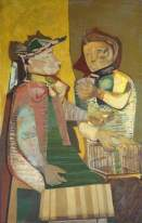 The Fortune Teller. Robert Colquhoun. 1946. Oil on canvas, 126.4 x 80.6 cm. Tate