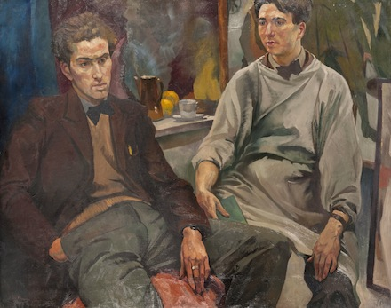 The Two Roberts: Colquhoun and McBryde, 1937-8, by Ian Fleming. Oil on canvas, 102 x 127.2 cm. The Glasgow School of Art