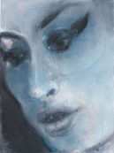 Amy – Blue 2011 National Portrait Gallery, London © Marlene Dumas Photo: Peter Cox