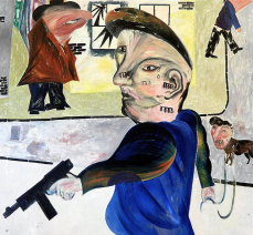 Jock McFadyen: The Street, 1980. Oil on canvas, h. 173 x w. 173 cm