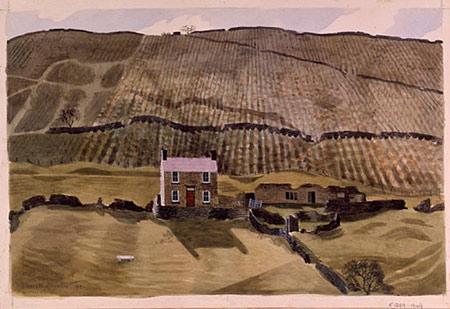 Kenneth Rowntree (1915-1997) Underbank Farm, Woodlands, Ashdale, Derbyshire. 1940