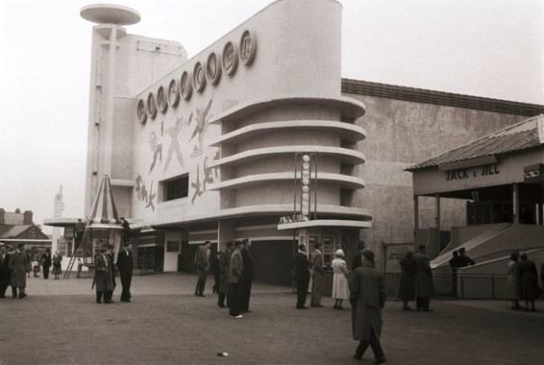 Fun House at Blackpool Pleasure Beach, 1935. Joseph Emberton Archive, University of Brighton Design Archives.