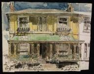 George Hooper: Regency House, Tunbridge Wells, Kent. Pen and ink and watercolour, 1942