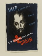 Edward McKnight Kauffer, Design for a poster, Help to Send Medical Aid to Spain, 1937 Victoria and Albert Museum © Simon Rendall