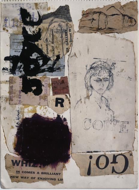 Adrian Henri, Joyce Collage, 1961. Mixed media on paper, 36 x 25cm.