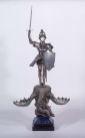 Edward Onslow Ford's St George and the Dragon Salt Cellar, 1901, in silver, marble, ivory, and lapis lazuli. Photograph: © National Museums Liverpool, Lady Lever Gallery