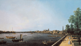 London, The Thames from Somerset House Terrace towards the City, c.1750-51