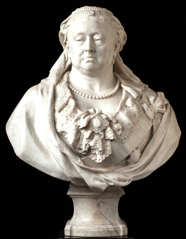 Alfred Gilbert's marble bust of Queen Victoria, 1887-89. Photograph: John Hammond/© Army and Navy Club London