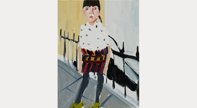 Esme by the Railings, 2014. Courtesy the artist and Victoria Miro Gallery. © Chantal Joffe