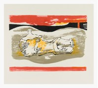 Reclining Figure with Red Stripes, 1973. Lithograph. Photo Michael Phipps