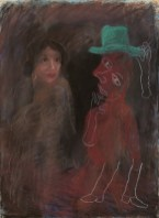 Green Hat, Early 1970's, pastel on paper, 79 x 57.5 cm