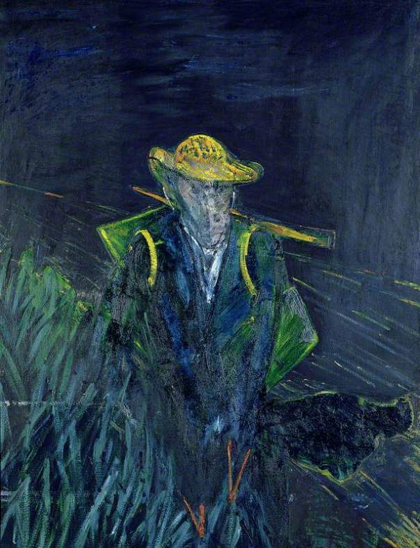 Francis Bacon: Study for a Portrait of Van Gogh I. 1956. Oil on canvas, 154.1 x 115.6 cm. Sainsbury Centre for Visual Arts, University of East Anglia