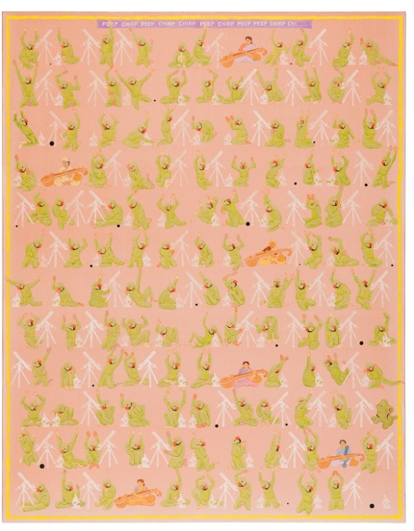 Peep Chirp Peep Chirp..., 2014. Acrylic on canvas, 190 x 150 cm, 74 3/4 x 59 1/8 in
