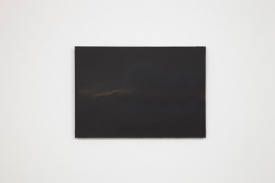 A K Dolven, A4 black I, 2014. Oil on canvas. Photo: Stuart Whipps