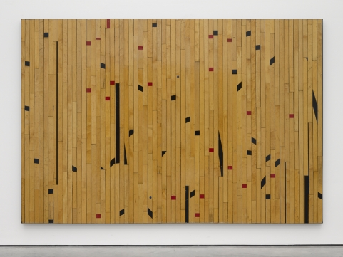 Ground rules (free throw possibility, 2014. Wood flooring. Photo: Ben Westoby