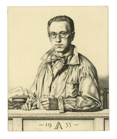 Self Portrait, 1933. Engraving. 20.1 x 16.5 cm. Private Collection / © Stanley Anderson Estate.