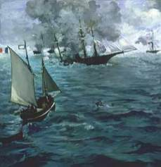 "Édouard Manet: The Battle of the U.S.S. ""Kearsarge"" and the C.S.S. ""Alabama"", 1864"