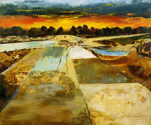 Take-off and Landing Field, 1943. Oil on cardboard, 62.2 x 75.5 cm. British Council Collection