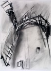 Dennis Creffield, Bembridge Windmill, Isle of Wight, 1990, charcoal on paper, 76 x 56 cm, © Dennis Creffield, courtesy James Hyman Gallery, London