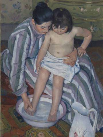 Mary Cassatt: The Child's Bath, 1893. Art Institute of Chicago