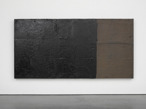 Gees removed, 2014. Wood, roofing substrate and tar. Photo: Ben Westoby