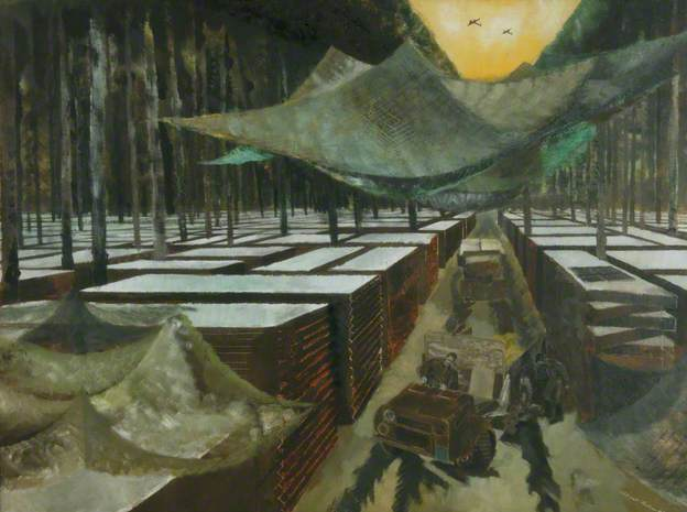 Royal Engineers' Dump. Oil on cardboard, 55.8 x 75.9 cm. Manchester City Galleries