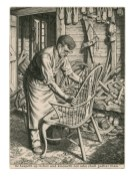 The Chair Maker, 1944. Engraving. 21.5 x 15.4 cm. Private Collection / © Stanley Anderson Estate.