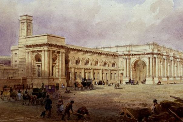Central Station, Newcastle upon Tyne (1850) by John Dobson