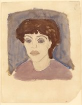 Portrait of Maud Abrantès, 1908. Watercolour with traces of black crayon, 41 x 32 cm.