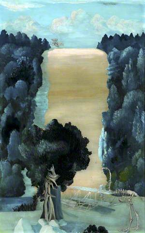 The Process of Time, 1939. Oil on board, 57.7 x 36.6 cm. Williamson Art Gallery & Museum
