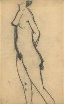 Standing Nude, 1908. Black crayon, 43 x 26.7 cm.