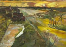 Holland: The Flooded Maas, 1944. Oil on board, 58.4 x 77.5 cm. National Museums Liverpool