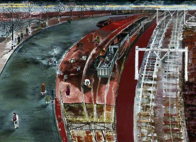 Holland, Cold Holland, 1944. Oil on board, 58.5 x 77.8 cm. National Museums Liverpool