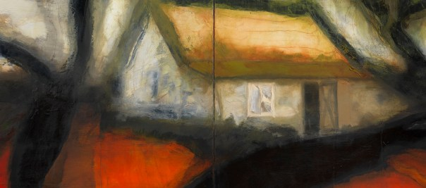Around the House oil on canvas 2015, 135 x 202 cm