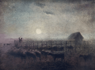 The Sheepfold, Moonlight, 1856-60 by Jean-François Millet. Photograph: Alamy