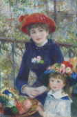 Two Sisters (on the Terrace)', 1881, by Pierre-Auguste Renoir