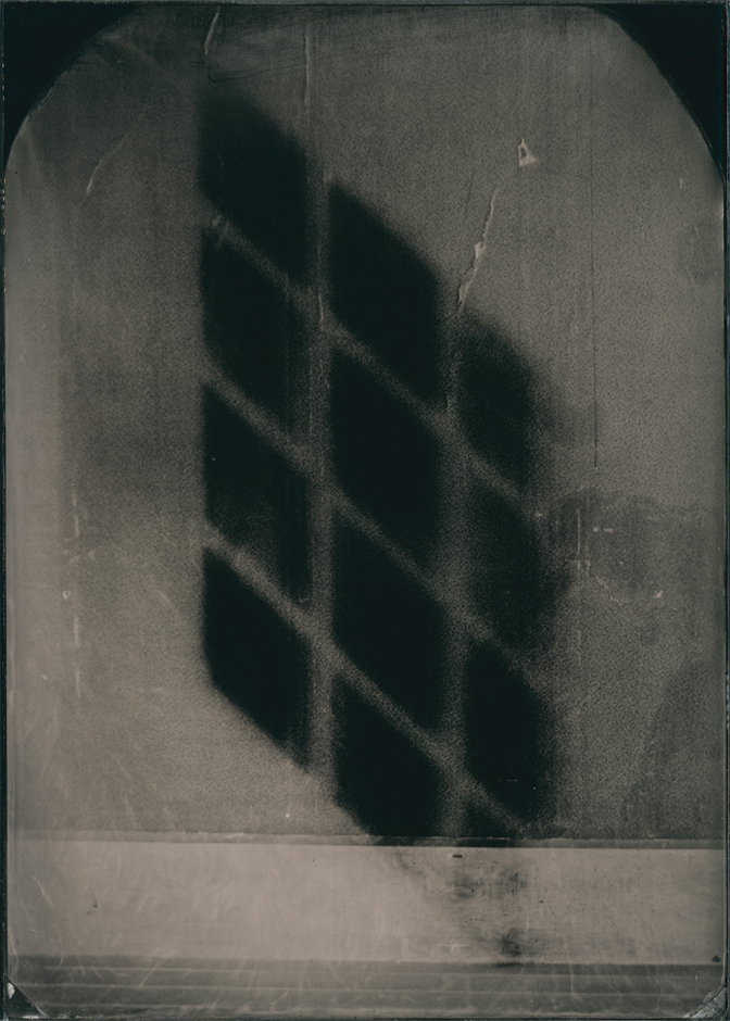 Black light, 2015. Ambrotype, 1 of 2 plates made 17.5 x 12.5 cm (plate size); 36.3 x 30.3 cm (framed size)