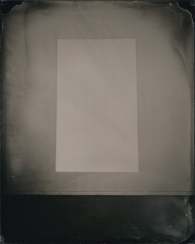 White light, 2013. Wet-collodion on acrylic sheet, 25 x 20 cm (plate size); 44.8 x 33.8 cm (framed size)