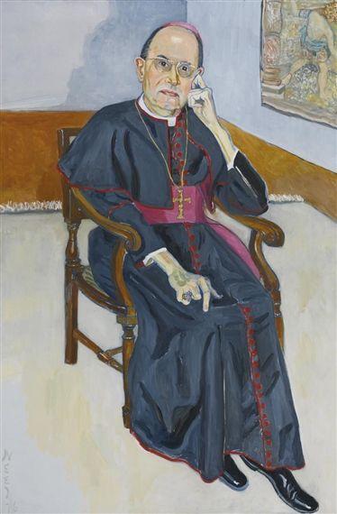 Alice Neel: Archbishop Jean Jadot, 1976