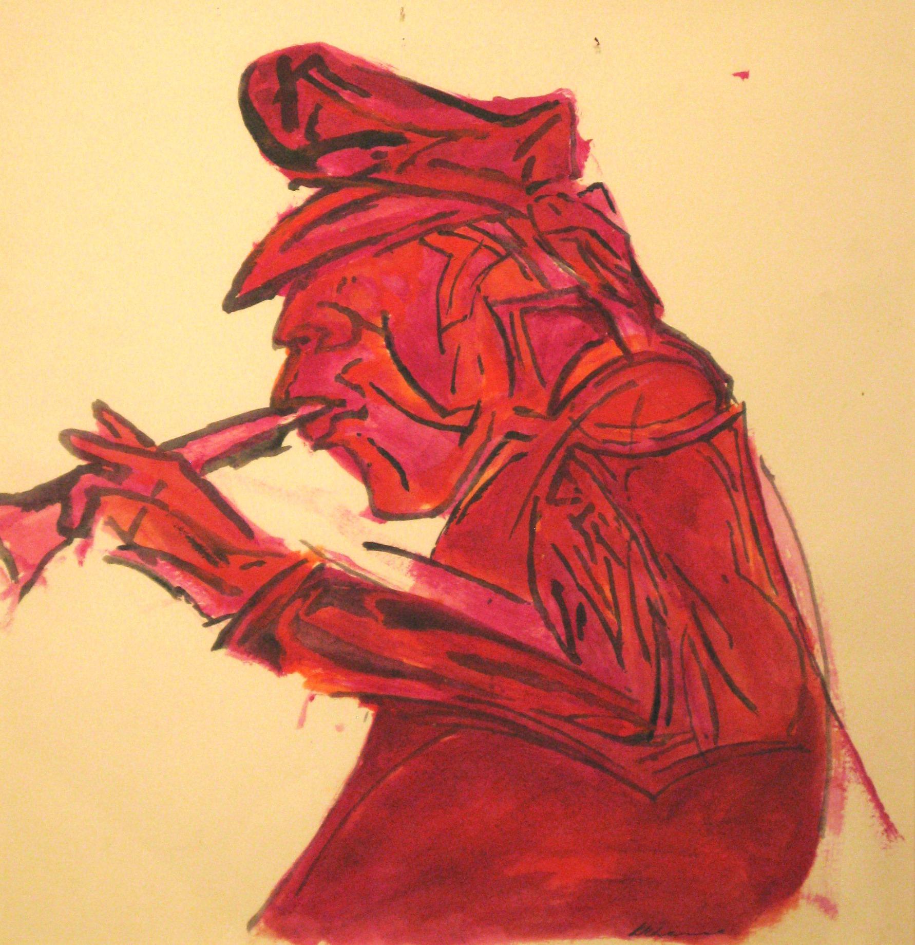 Bandwalla. Watercolour on paper 20 x 20cm (8 x 8 in.)