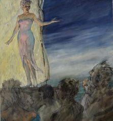 Air, 2015. Oil on canvas, 56 x 51 cm.