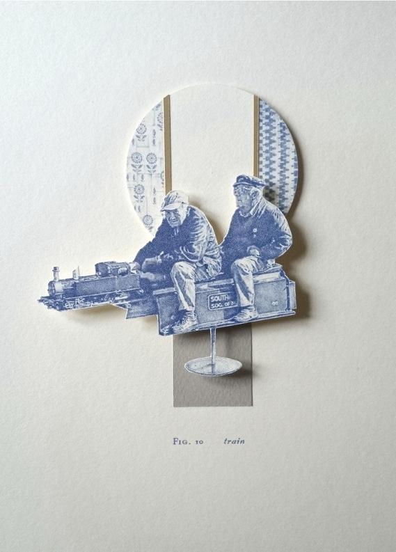 Train, miniature biro relief