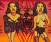 Two screaming ladies, 1970, © Ed Paschke