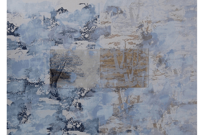 Displacement Series No.12 (detail), 2015, mixed media on paper, 76 x 56.5 cm