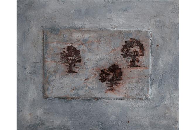 Trees No.2, 2014, mixed media on canvas, 24 x 30 cm