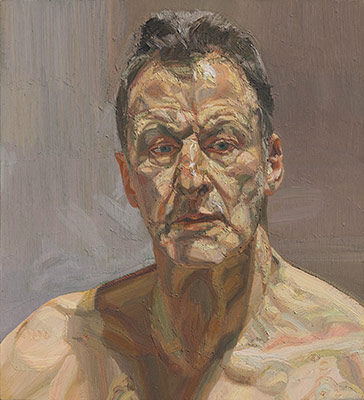 Lucian Freud: Reflection (Self-Portrait), 1985. Oil on canvas, 22 x 19 7/8 in. (56 x 50.7cm.)