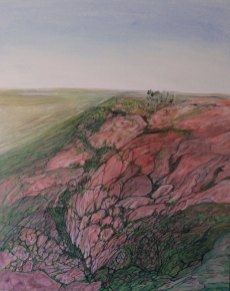 Wirral-jurassic sandstone. Oil on canvas