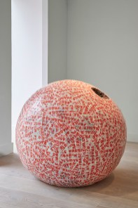 Mother Mould, 2014-15, newspaper and tape, 109.7 cm